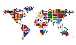 Complete set of Flags Royalty Free Stock Photos