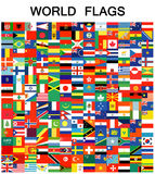 Complete set of Flags Stock Photography