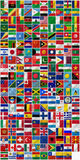 Complete set of Flags Royalty Free Stock Photography