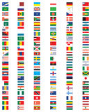 Complete set of Flags of the world Royalty Free Stock Images