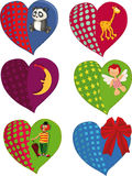 The complete set of hearts Royalty Free Stock Image