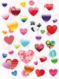 The complete set of hearts Stock Image