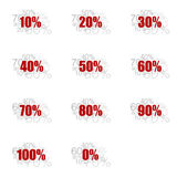 Complete set of numbers and percent Royalty Free Stock Photography