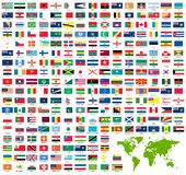 Complete set of official world flags royalty free illustration