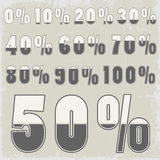 Complete set of percent with  Stock Image