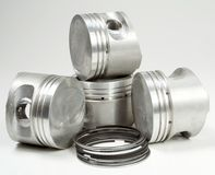 Complete set of pistons Stock Photography
