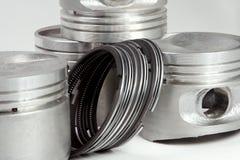 Complete set of pistons Stock Photo