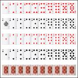 Complete set of Playing Card Stock Photos
