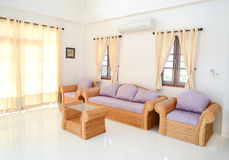Complete set of rattan furniture Royalty Free Stock Photos