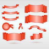 Complete set of ribbons Royalty Free Stock Photo