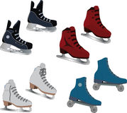 The complete set of the skates. Set of the fads for figure skating Stock Images