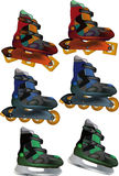 The complete set skates Stock Photography