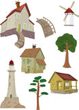 The complete set small houses Stock Photos