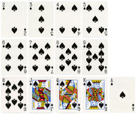 Playing Cards - Spades Suit Stock Image