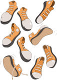 The complete set of sports footwear Stock Photo