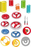 The complete set springs of gears Stock Image