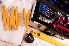 The complete set of tools Stock Image
