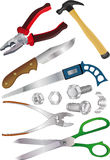 The complete set of tools Royalty Free Stock Photography