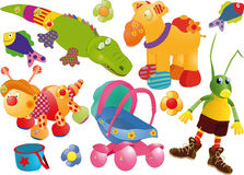 The complete set of toys Stock Image