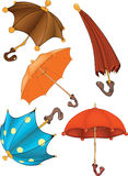 Complete set of umbrellas Stock Images