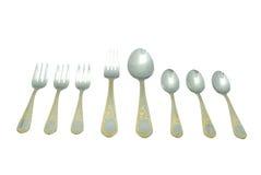 Complete silverware set Stock Photo