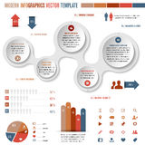 Complete template for modern infographics Stock Photo