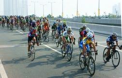 Complete un ciclo la raza, actividad del deporte de Asia, jinete vietnamita Fotos de archivo libres de regalías