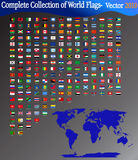 Complete vector set of world Flags Stock Images