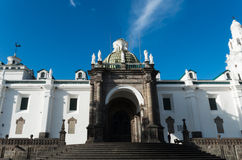 Complete view of the famouse cathedral of Quito city Stock Photography