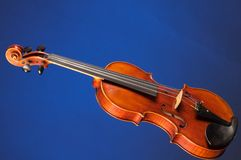 Complete Violin Viola  On Blue Royalty Free Stock Photos