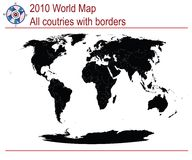 Complete world map Royalty Free Stock Photos