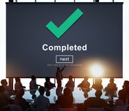 Completed Accomplishment Achievement Finished Success Concept.  Royalty Free Stock Photo