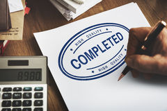 Completed Accomplishment Finished Achievement Concept Royalty Free Stock Image
