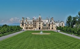 Biltmore House. Completed in 1895, this American castle is located near Asheville, North Carolina royalty free stock image