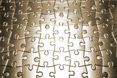 Completed blank jigsaw puzzle Royalty Free Stock Photo