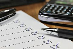 Completed checklist Royalty Free Stock Photos