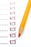 Completed checklist Royalty Free Stock Images