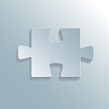 Completed gray puzzle. Completed four gray puzzle and whole Stock Photo