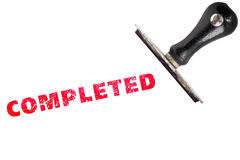 Completed rubber stamp Royalty Free Stock Photo