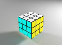 Completed rubic`s cube - 3d render Stock Photo