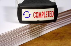 Completed Stamp Royalty Free Stock Photos