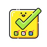 Completed Tasks Lineal Color Icon vector illustration
