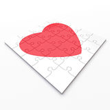 Completed valentine's heart puzzle Royalty Free Stock Images