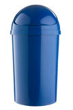 Completely blue plastic selective trash can for paper Royalty Free Stock Images