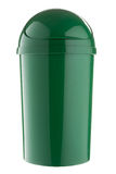 Completely green plastic selective trash can for glass Royalty Free Stock Photo