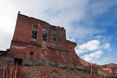 Completely ruined brick building Stock Photos