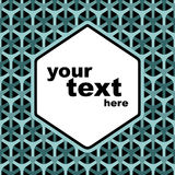 Completely seamless honeycomb pattern Royalty Free Stock Photography