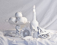Completely white old masters still life stock images