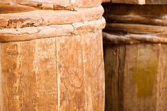 Completely wooden barrels Stock Images