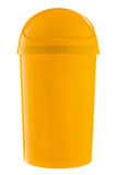 Completely yellow plastic selective trash can for metal and plastic Stock Image